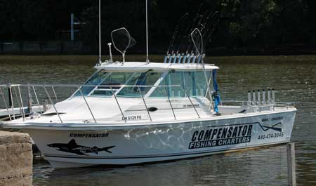 Lake erie walleye fishing charters compensator located in for Ohio one day fishing license